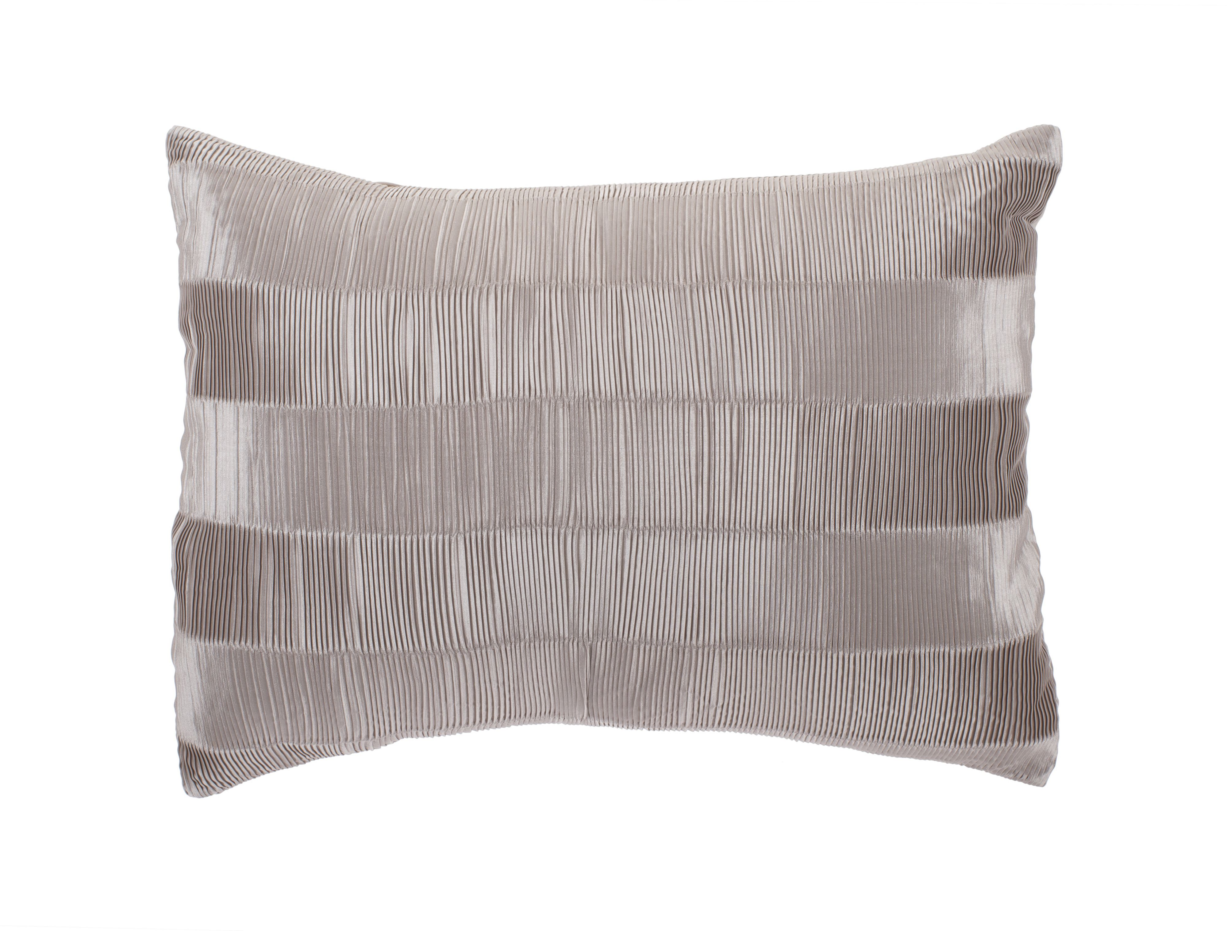 Heat pleat cushion in champagne