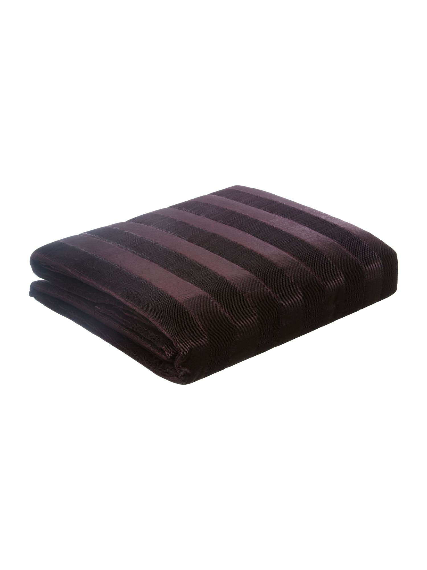 Heat pleat bedspread in plum