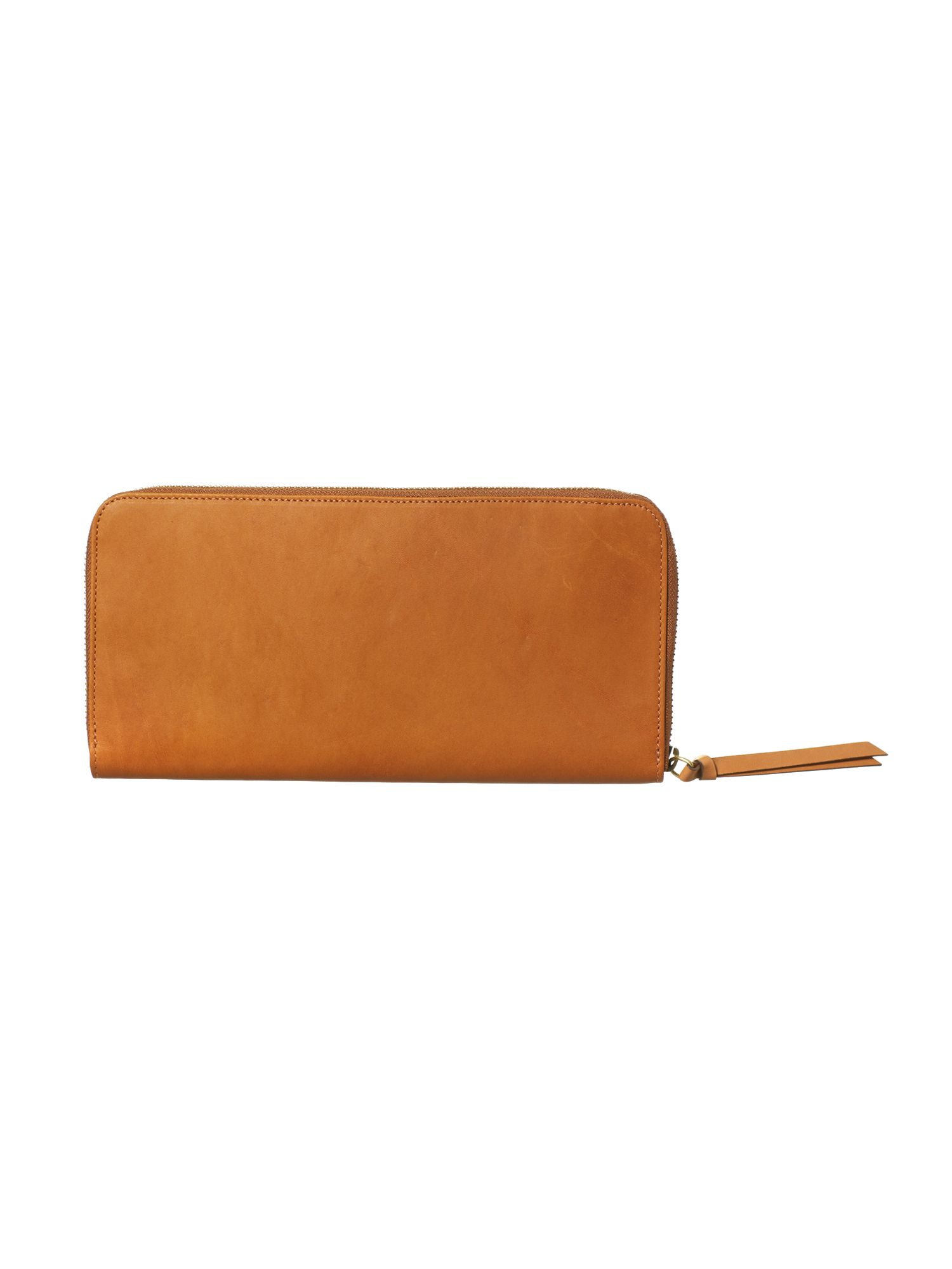 Smooth leather travel wallet