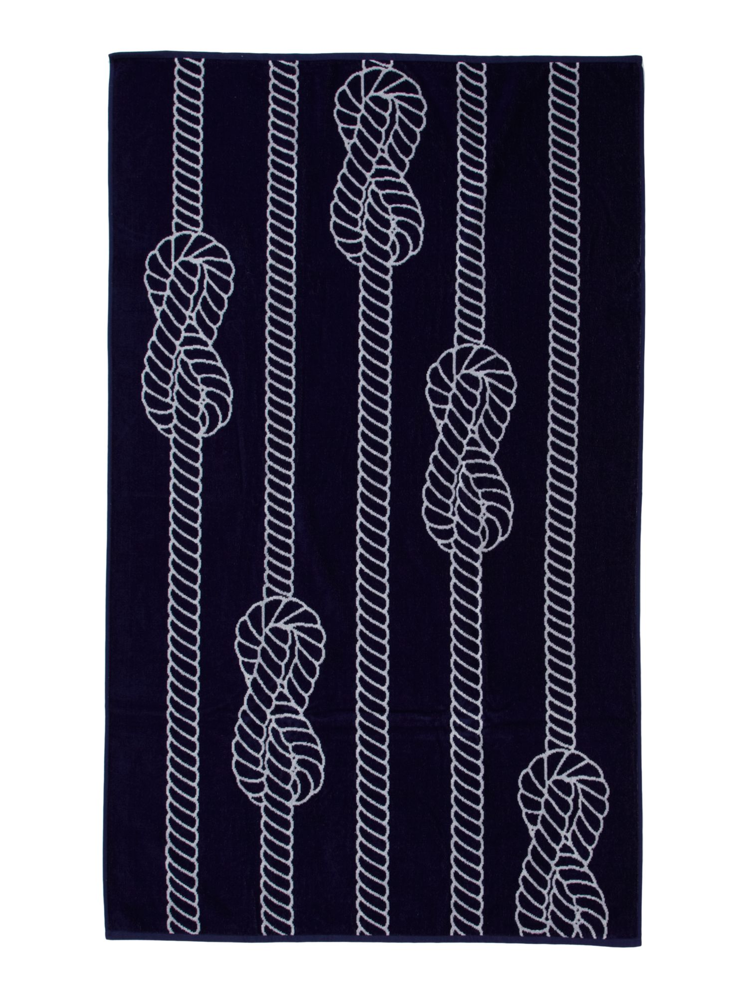 Nautical rope beach towel