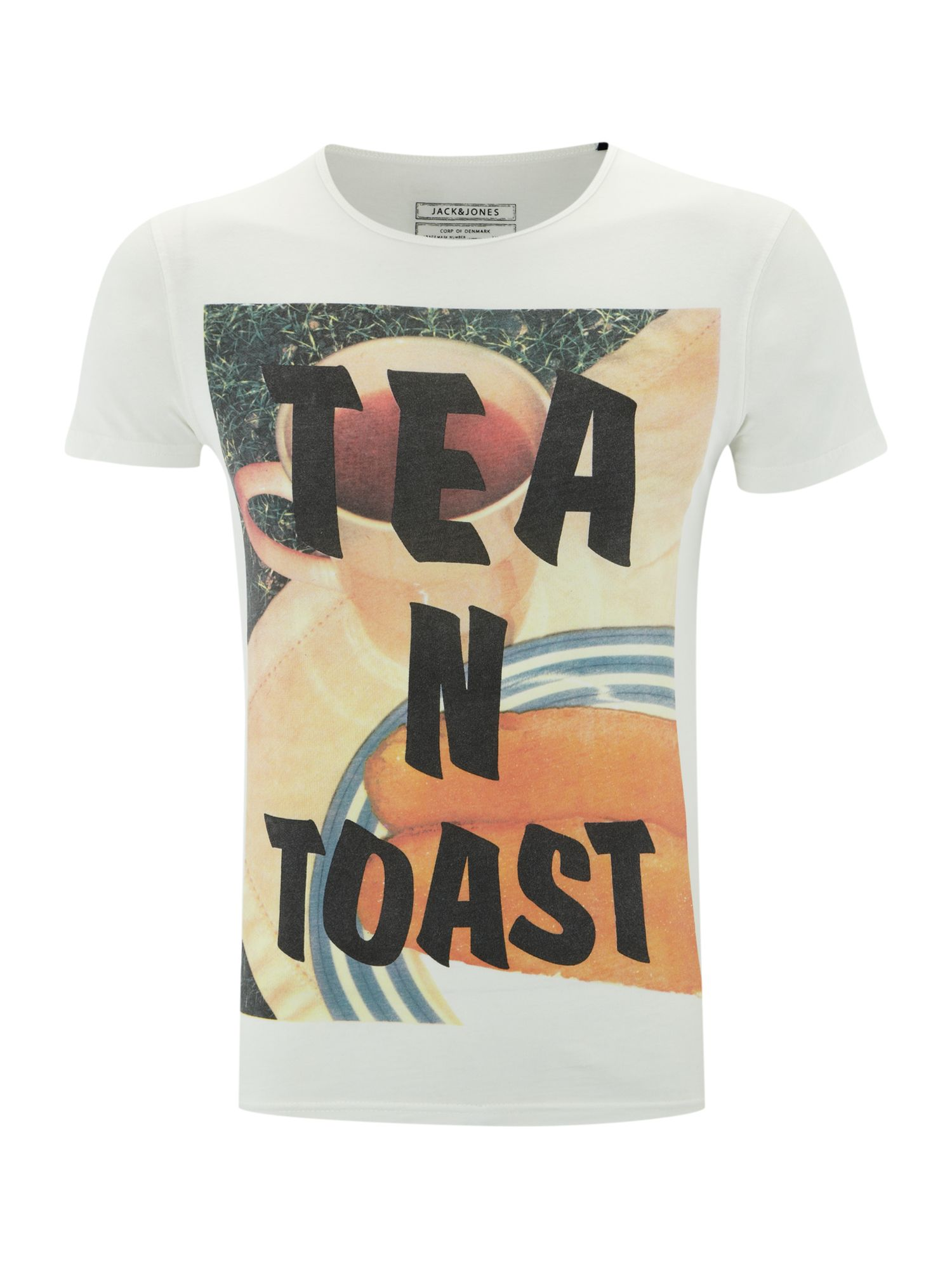 Short sleeved `tea n toast` graphic T-shirt