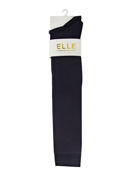 Elle Bamboo 2 pair pack knee high socks