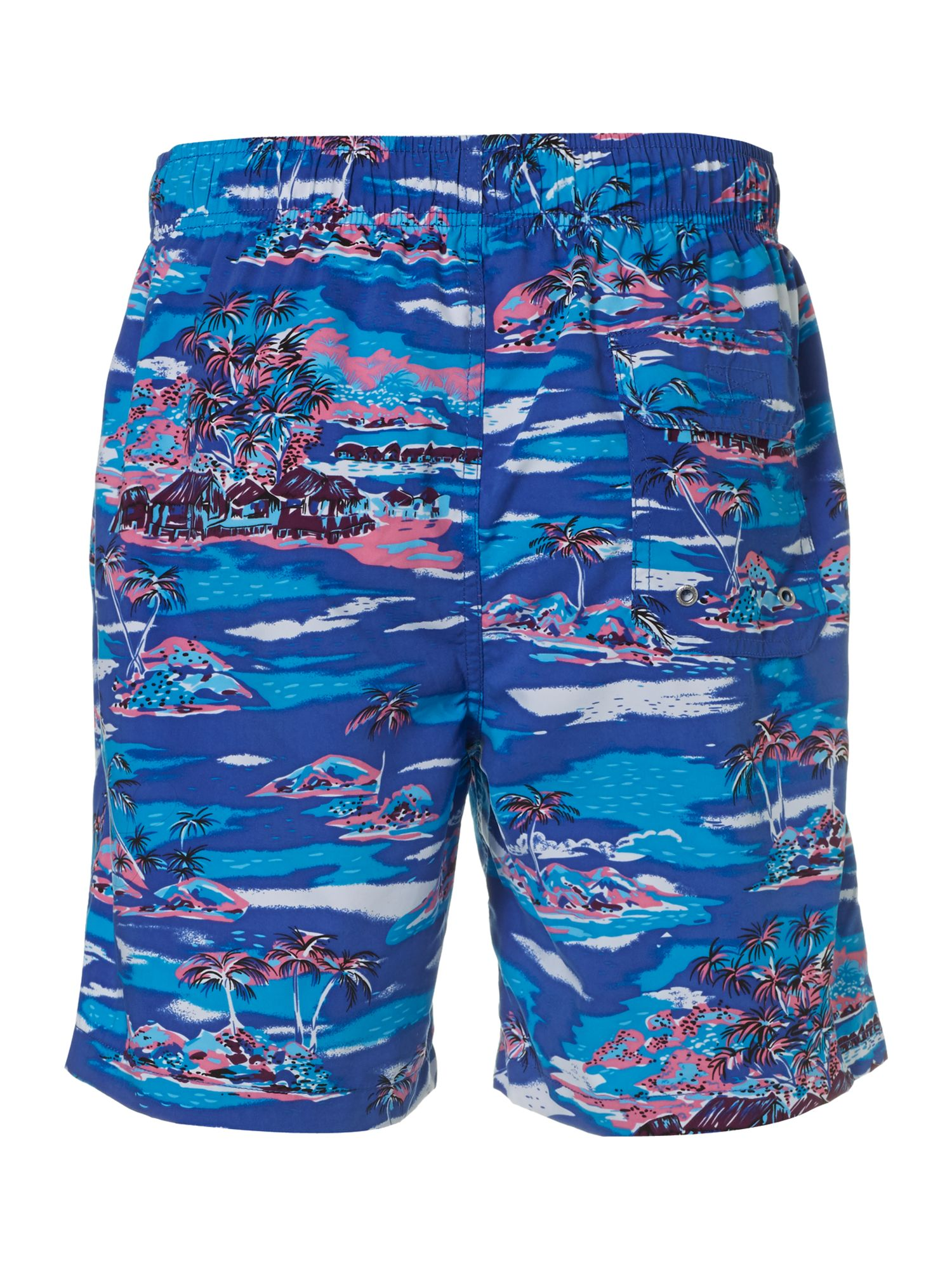 Hawaiian print swim short