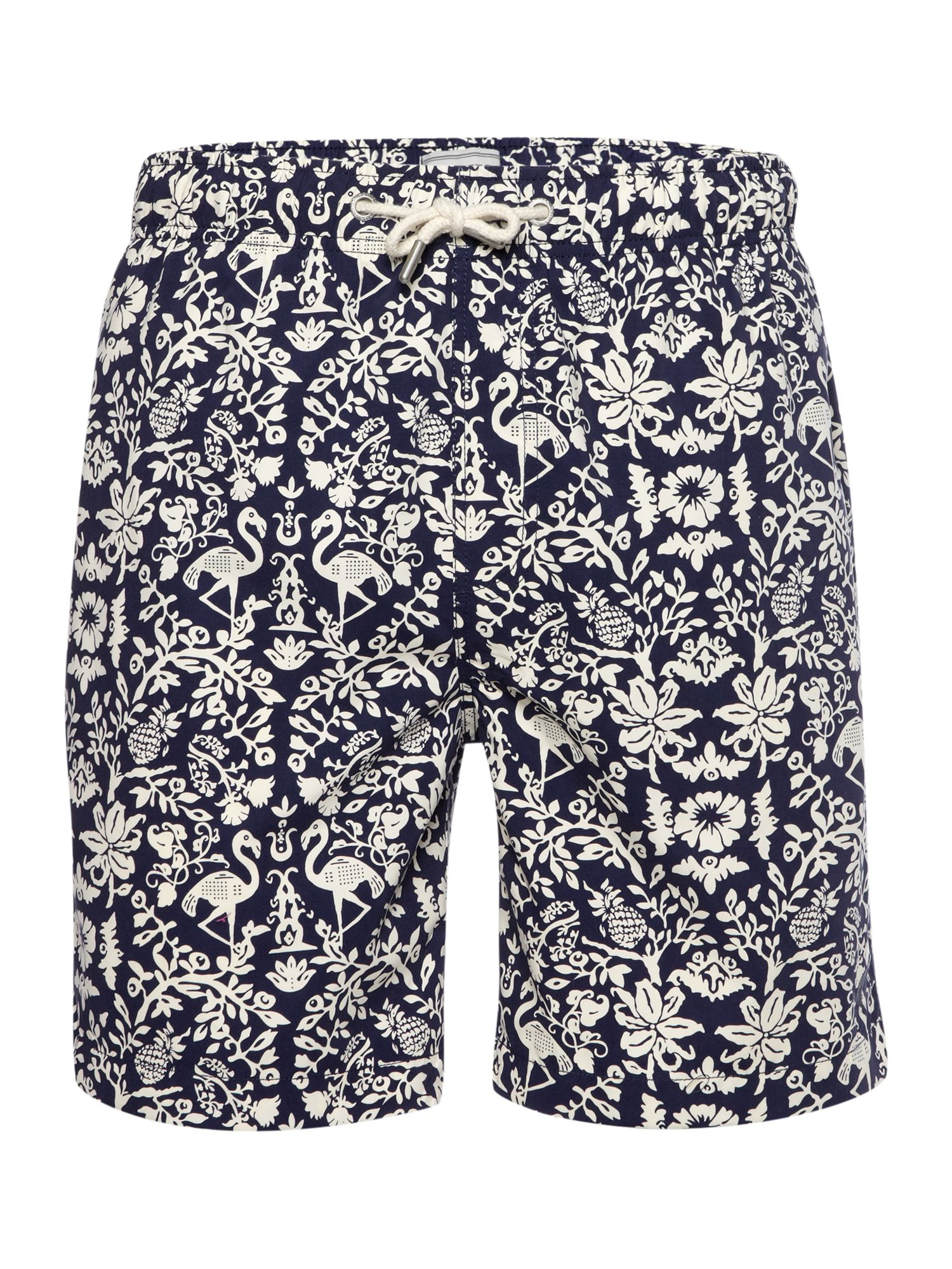 Flamingo print swim short
