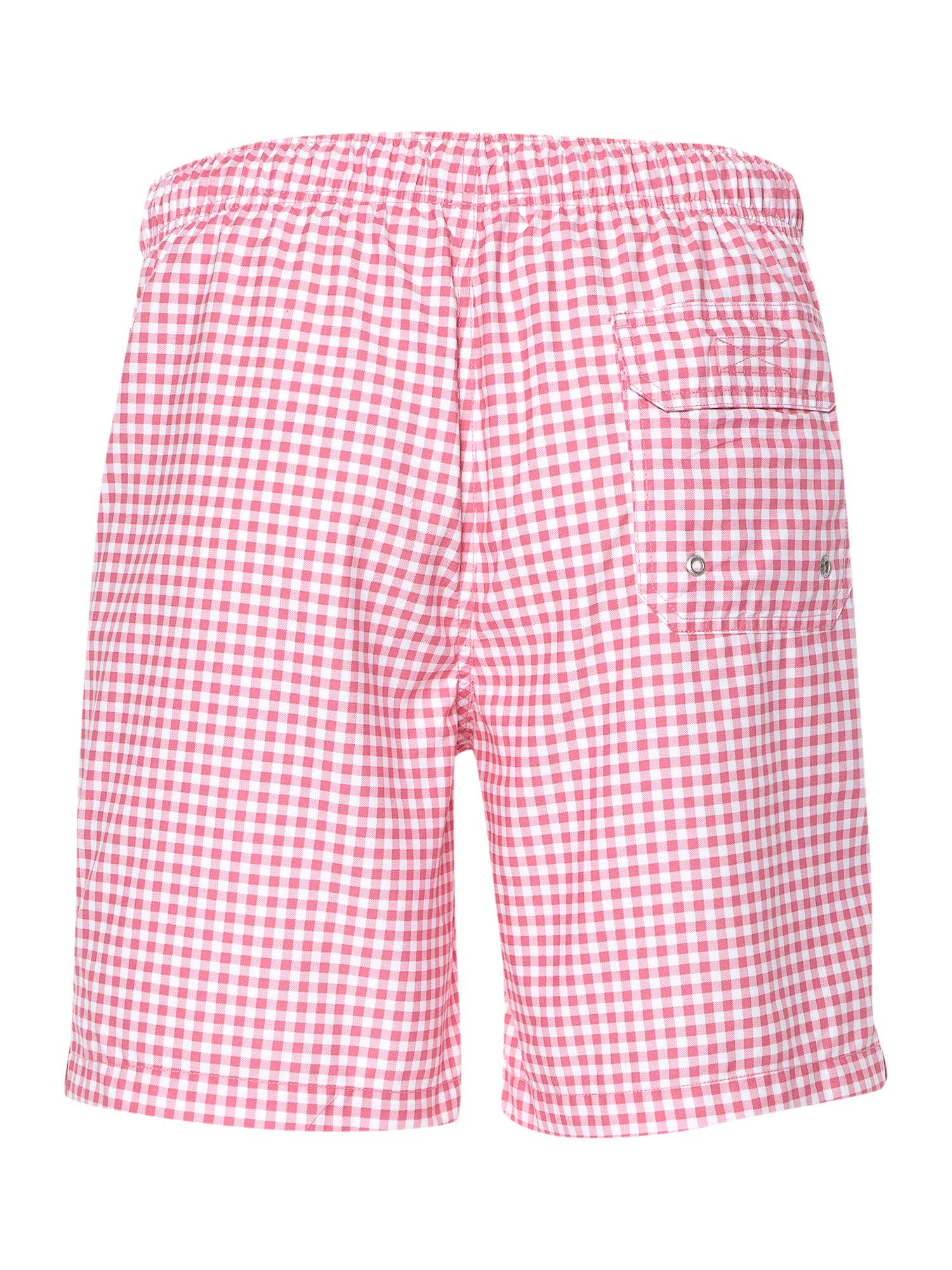 Gingham check swim short