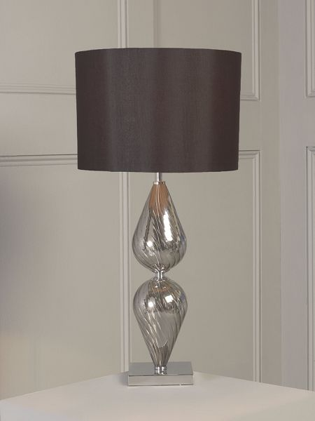 Pied a Terre Teardrop glass base table lamp