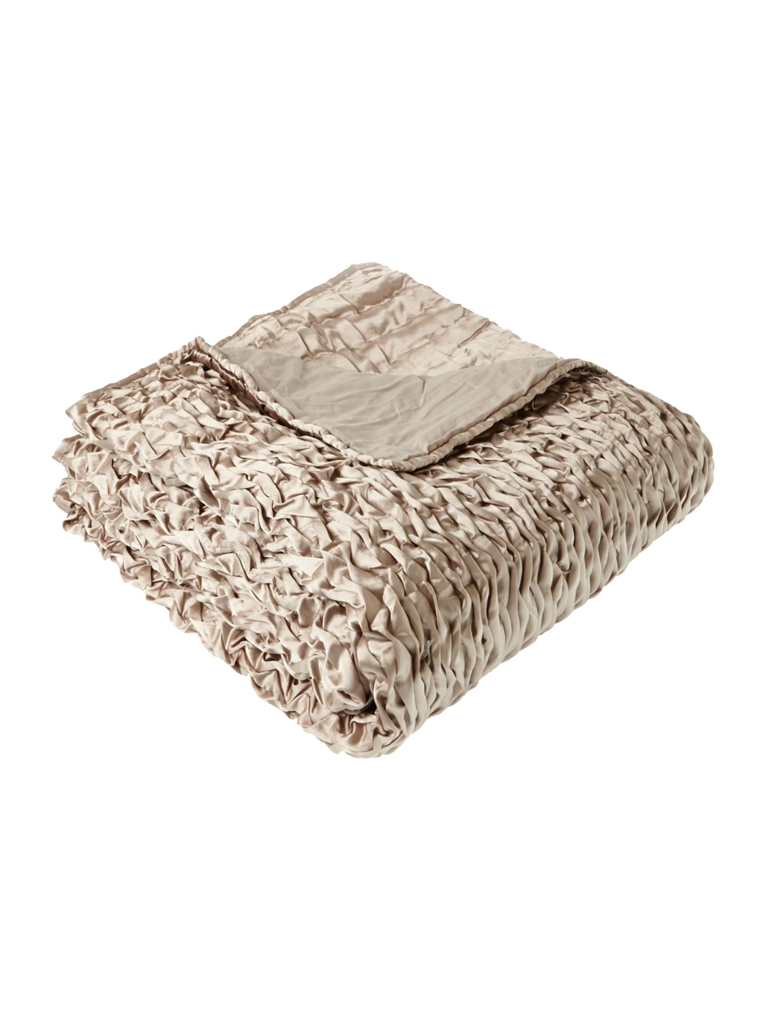 Hand stitched bedspread dove grey