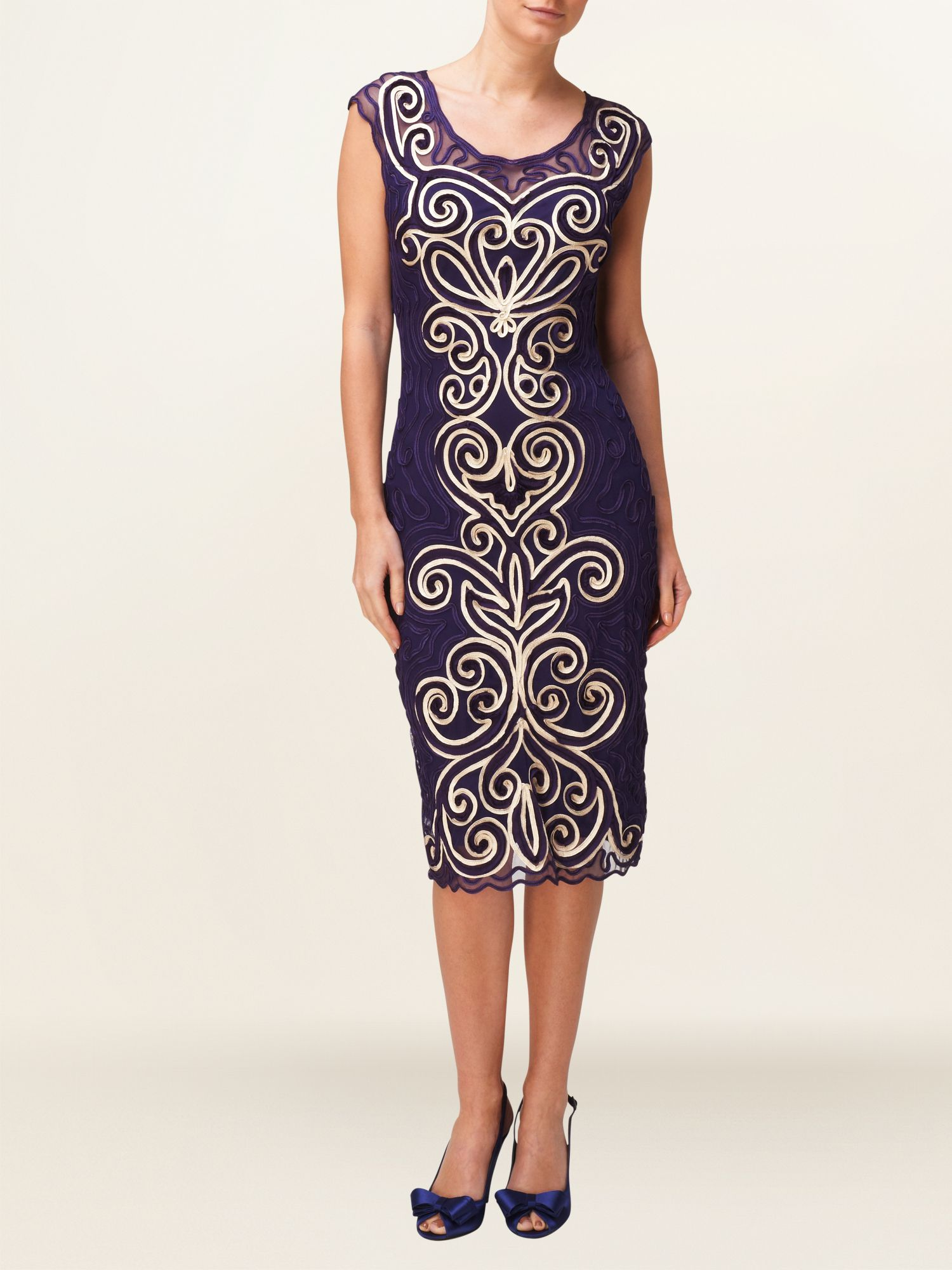 Isabelle tapework dress