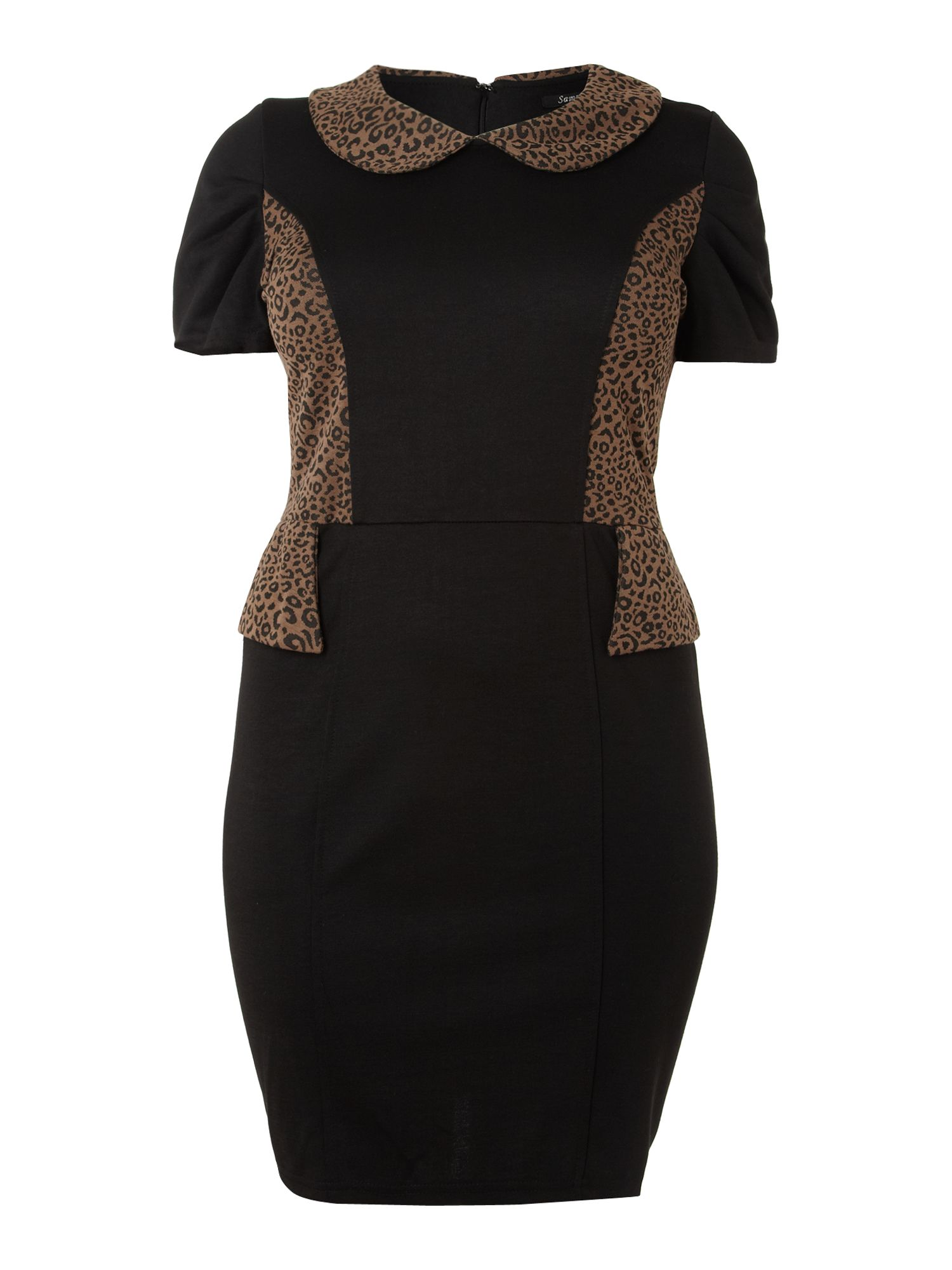 Peplum contrast dress