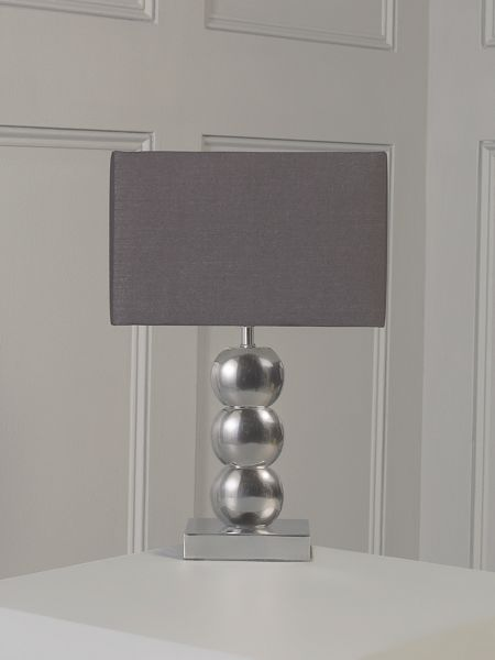 Linea Taylor stacked chrome base table lamp