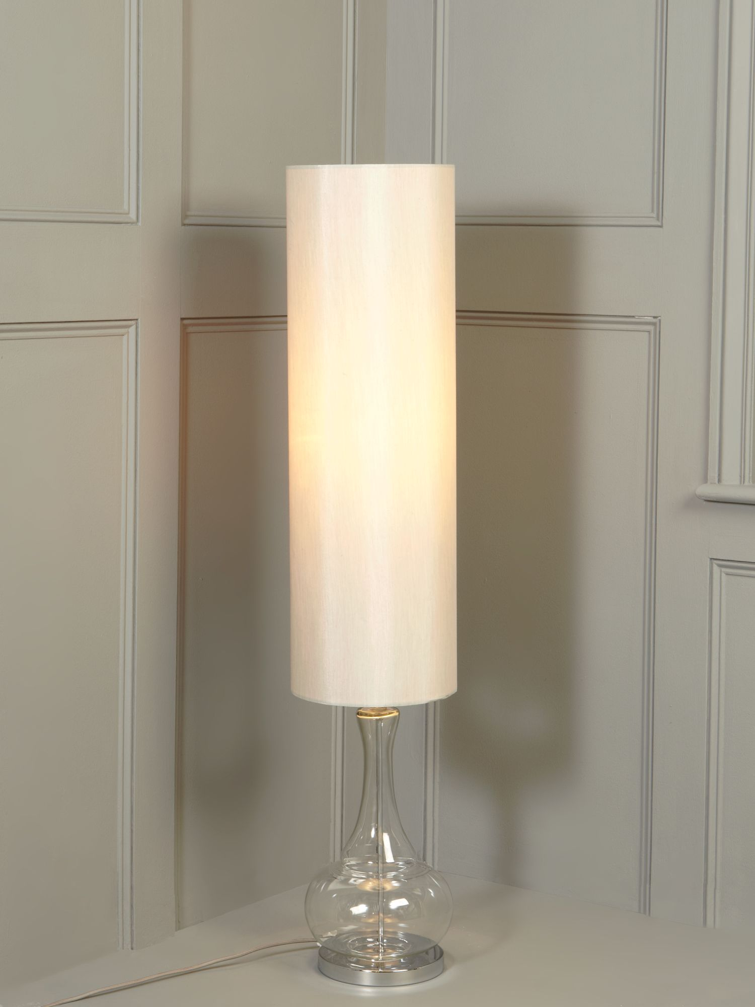 Aurelia glass base floor lamp