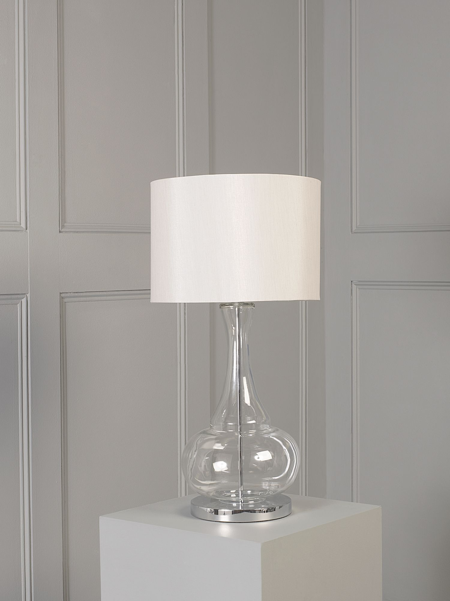 Aurelia glass base table lamp