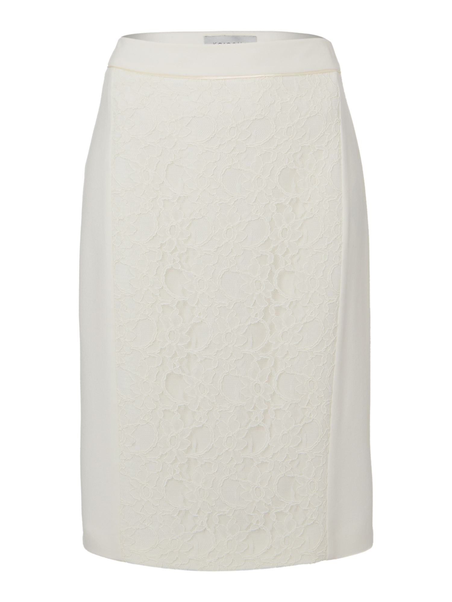 Panelled lace skirt