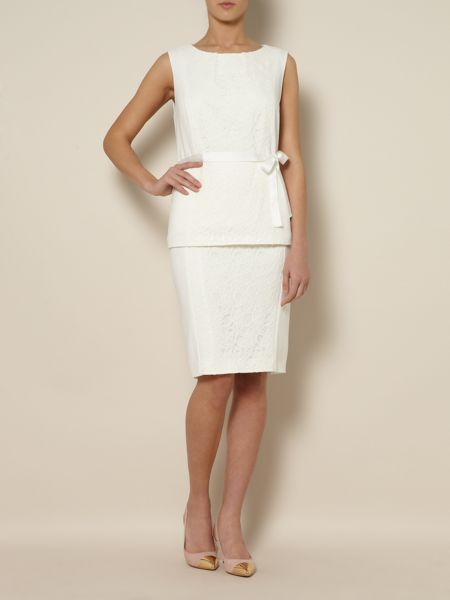Linea Panelled lace skirt