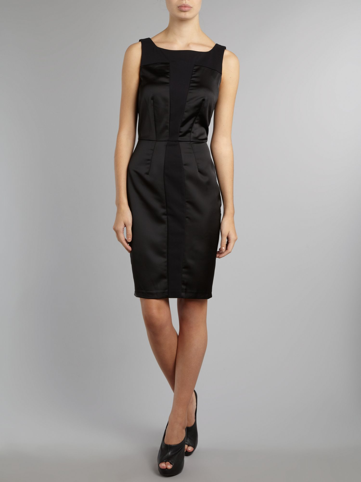 Panel pencil satin dress