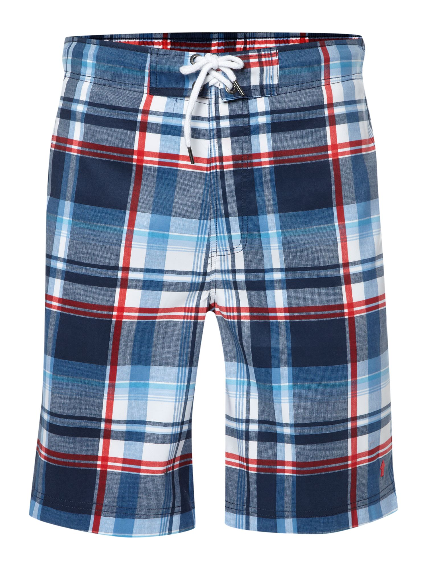 Large check swim short