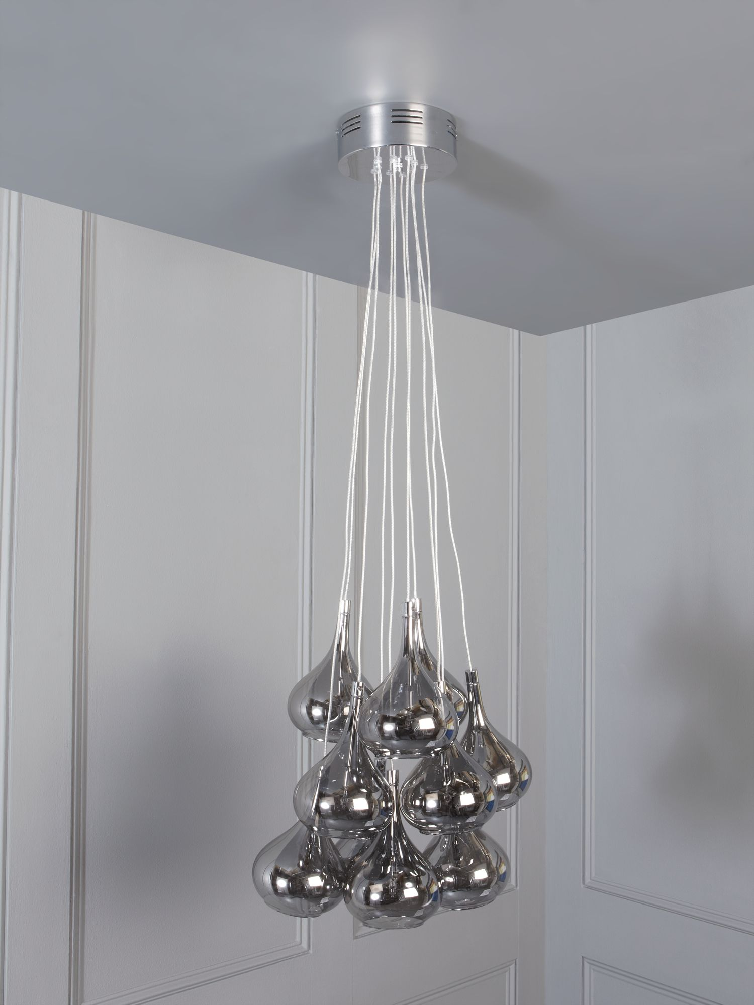 Cosmo smoked lustre adjustable ceiling pendant