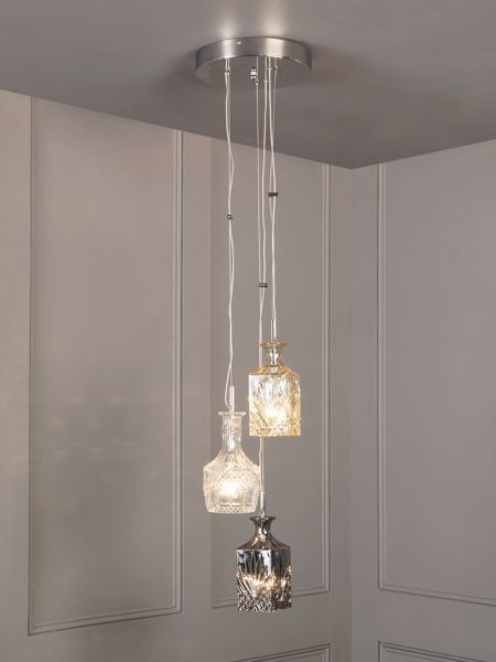 Linea Decanter cluster adjustable pendant