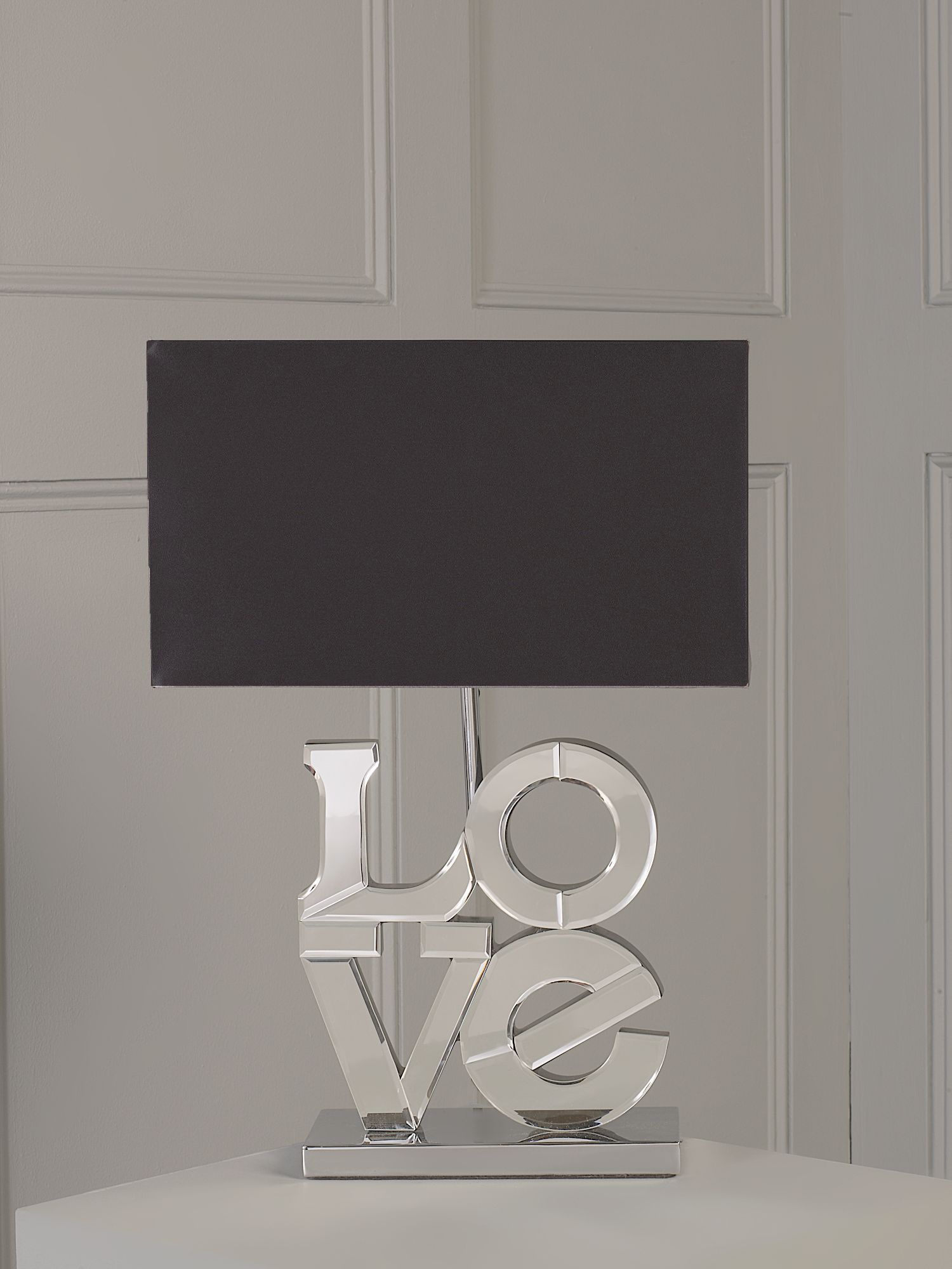 Love mirrored base table lamp