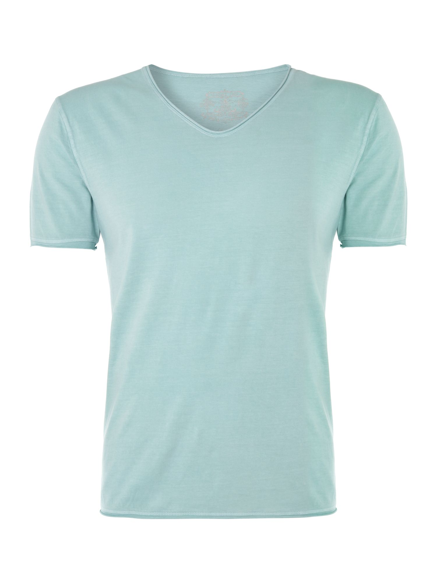 Band pigment jersey scoop neck T-shirt