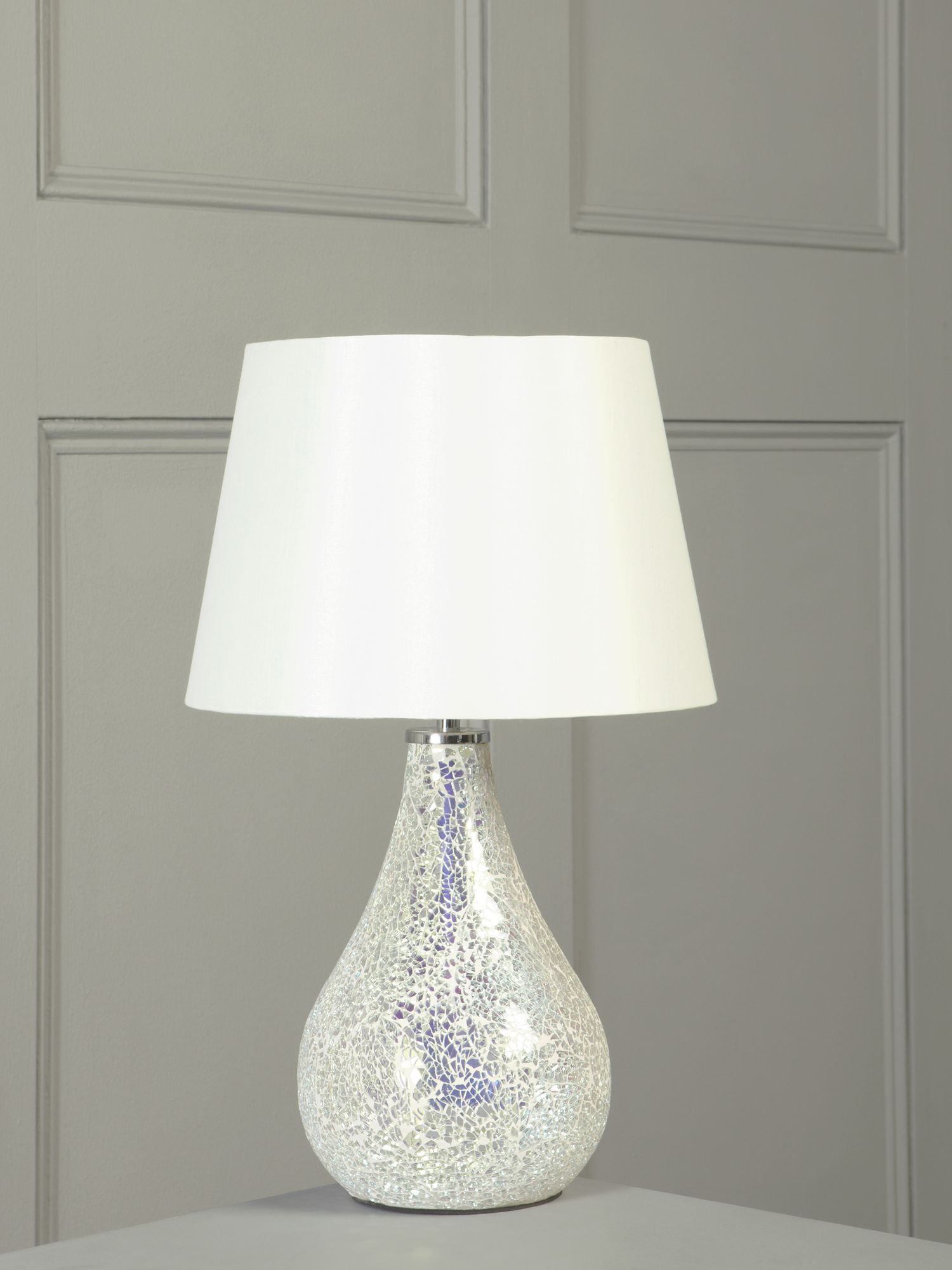 Zara irridescent table lamp