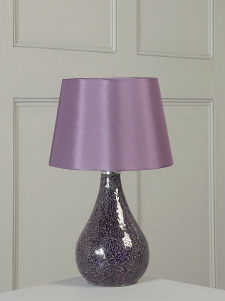 Linea Zara plum mosaic glass table lamp