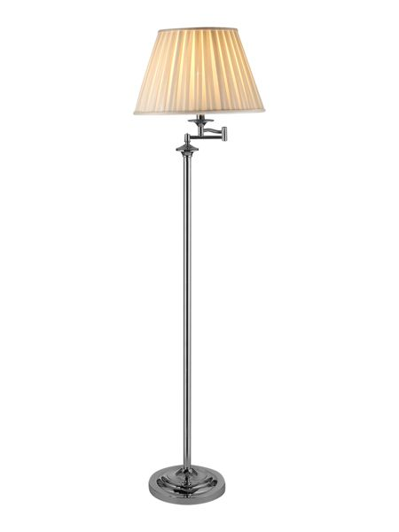 Linea Eton polished chrome swing arm floor lamp