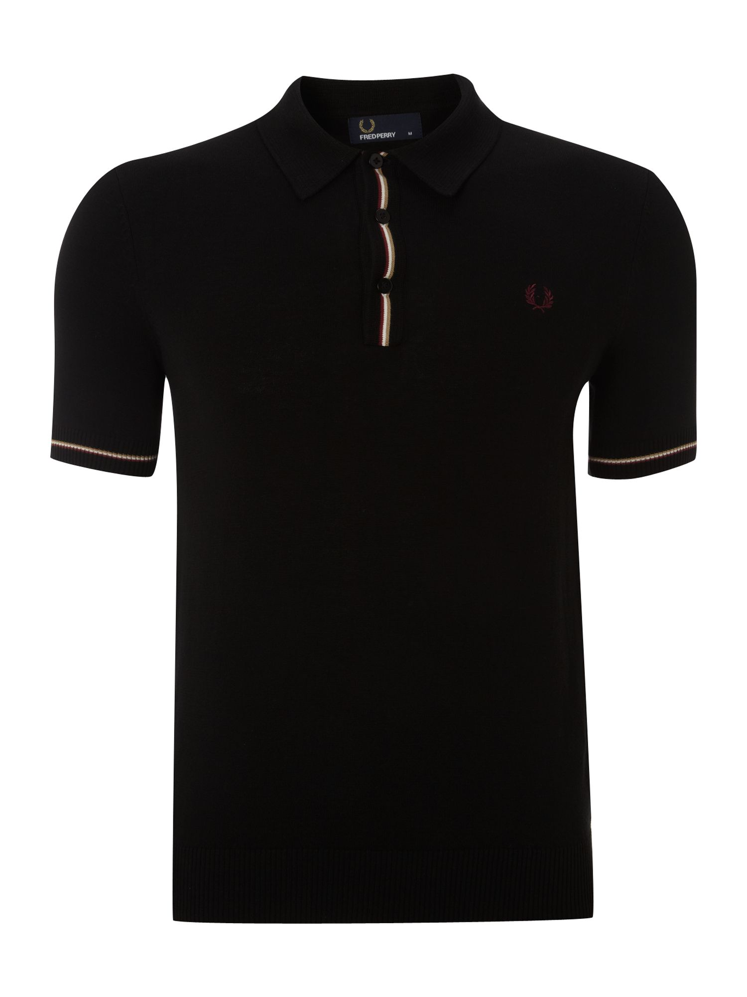 Knitted tipped polo shirt