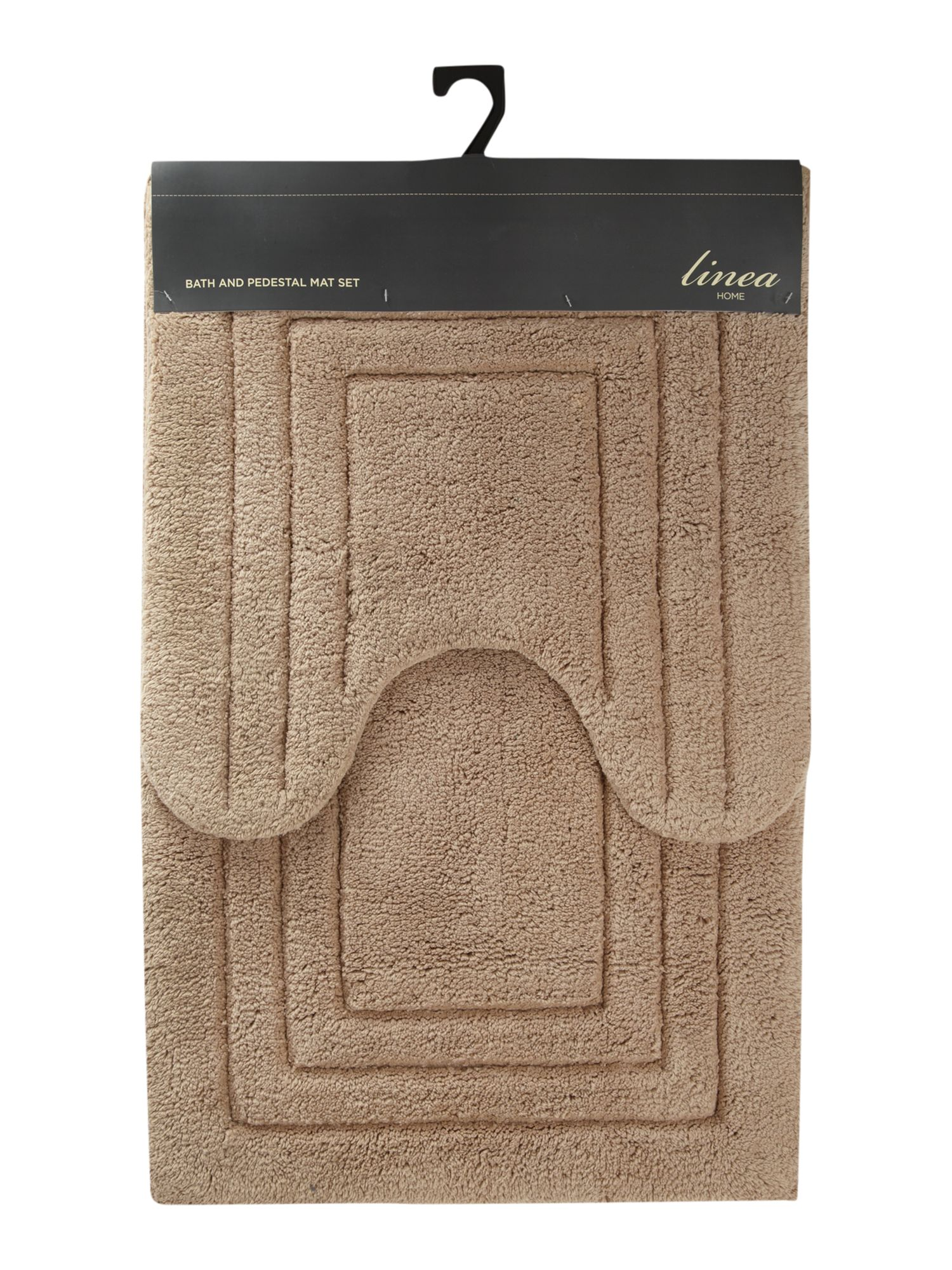 Bath mat and pedestal mat set in mushroom
