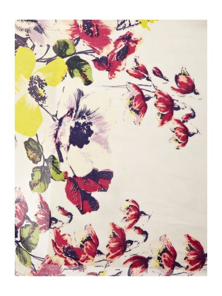 Linea Laurence Floral and Stripe Scarf