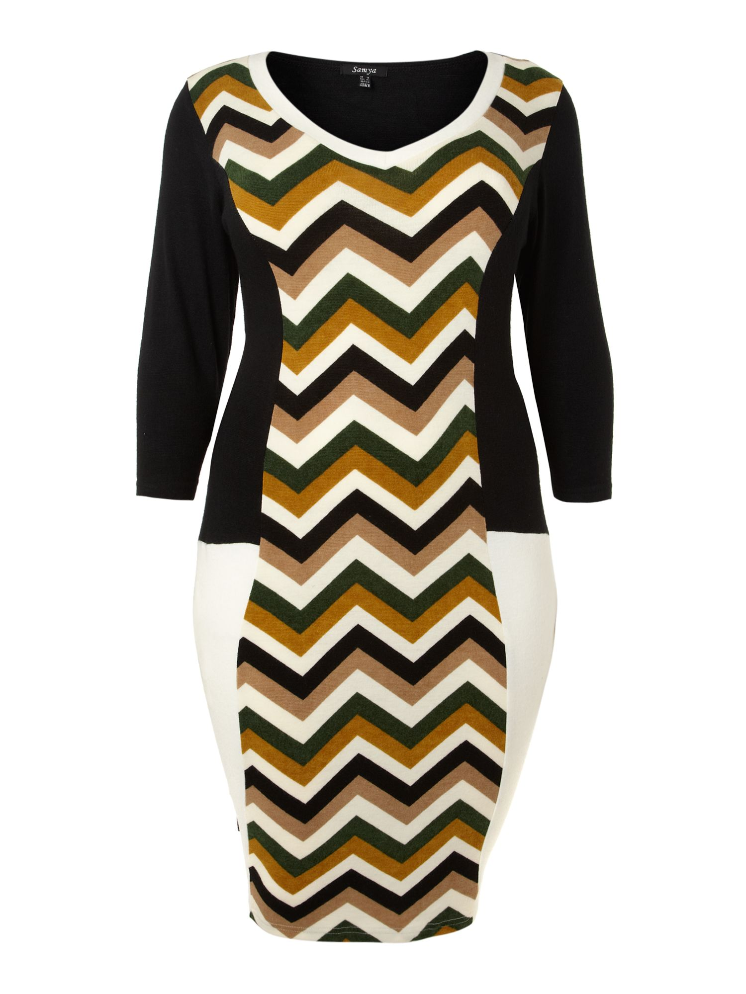 Chevron knit dress