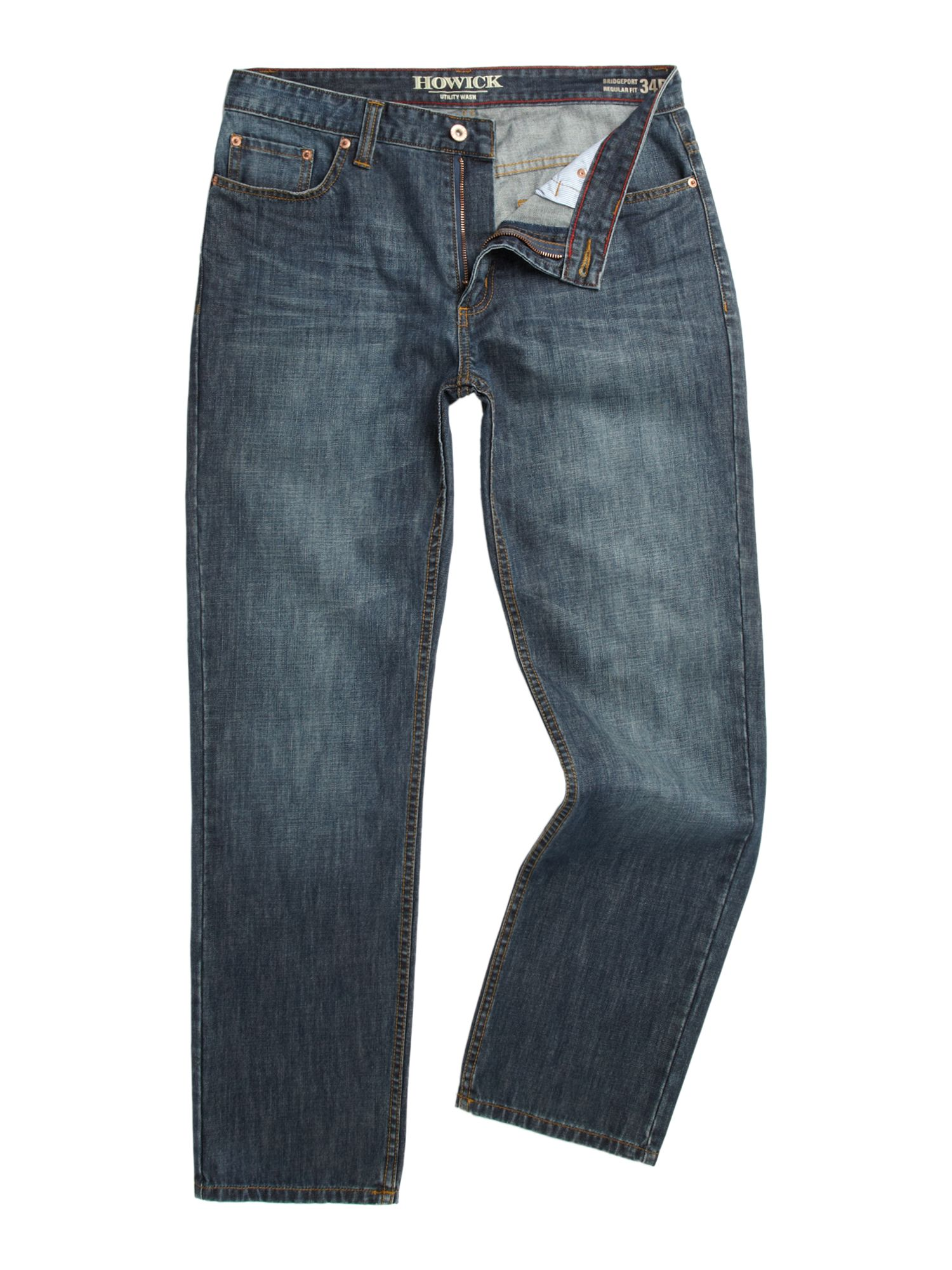 Bridgeport five pocket washed jeans