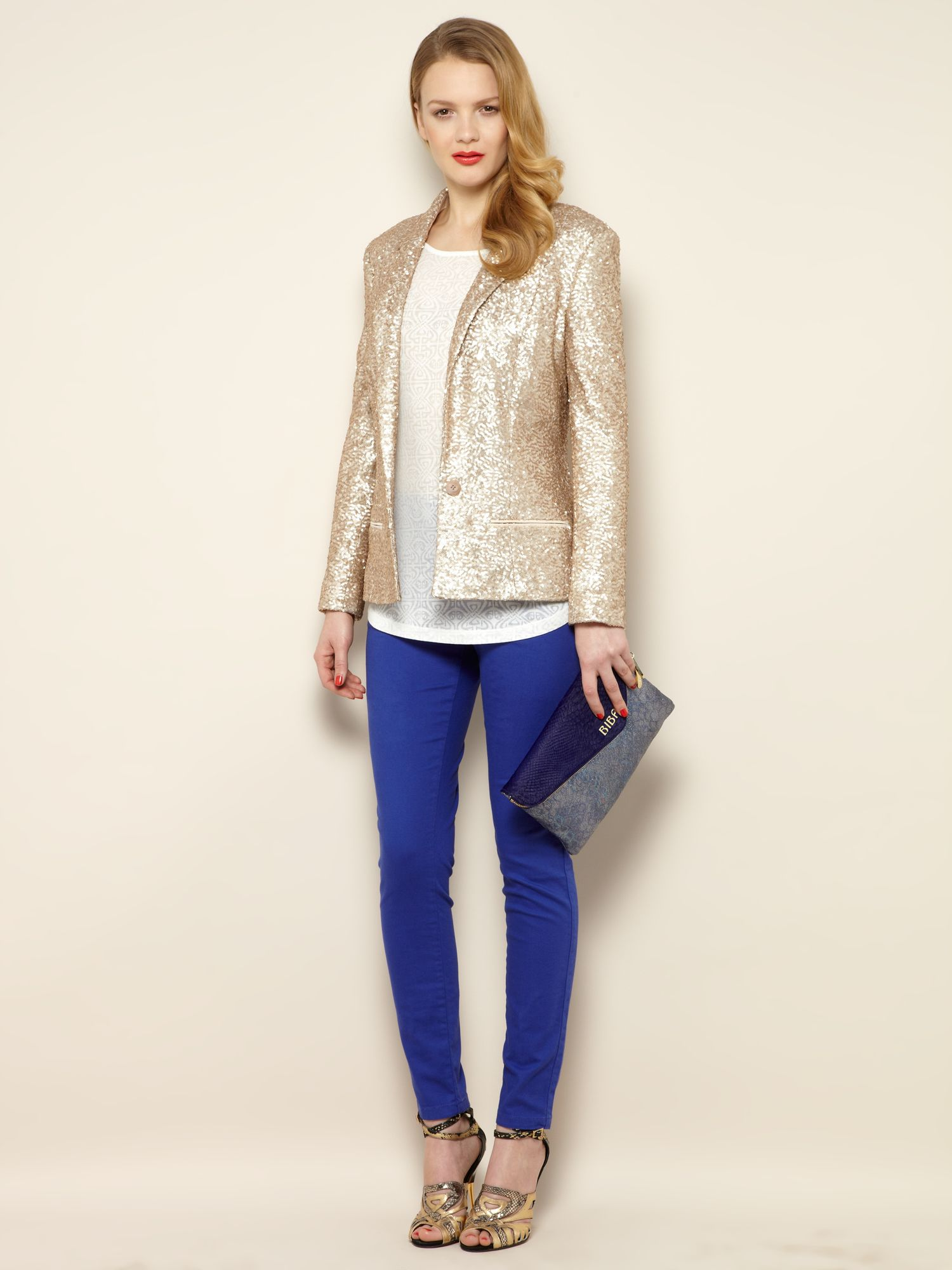 Sequin tailored jacket