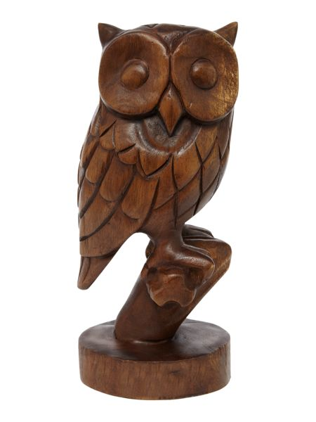 Linea Wooden owl ornament
