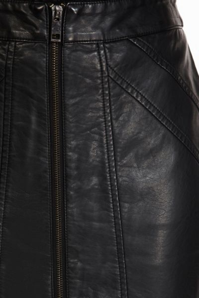 Oasis Faux leather zip pencil skirt