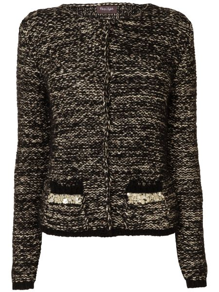 Phase Eight Salma sequin trim tweedy cardigan
