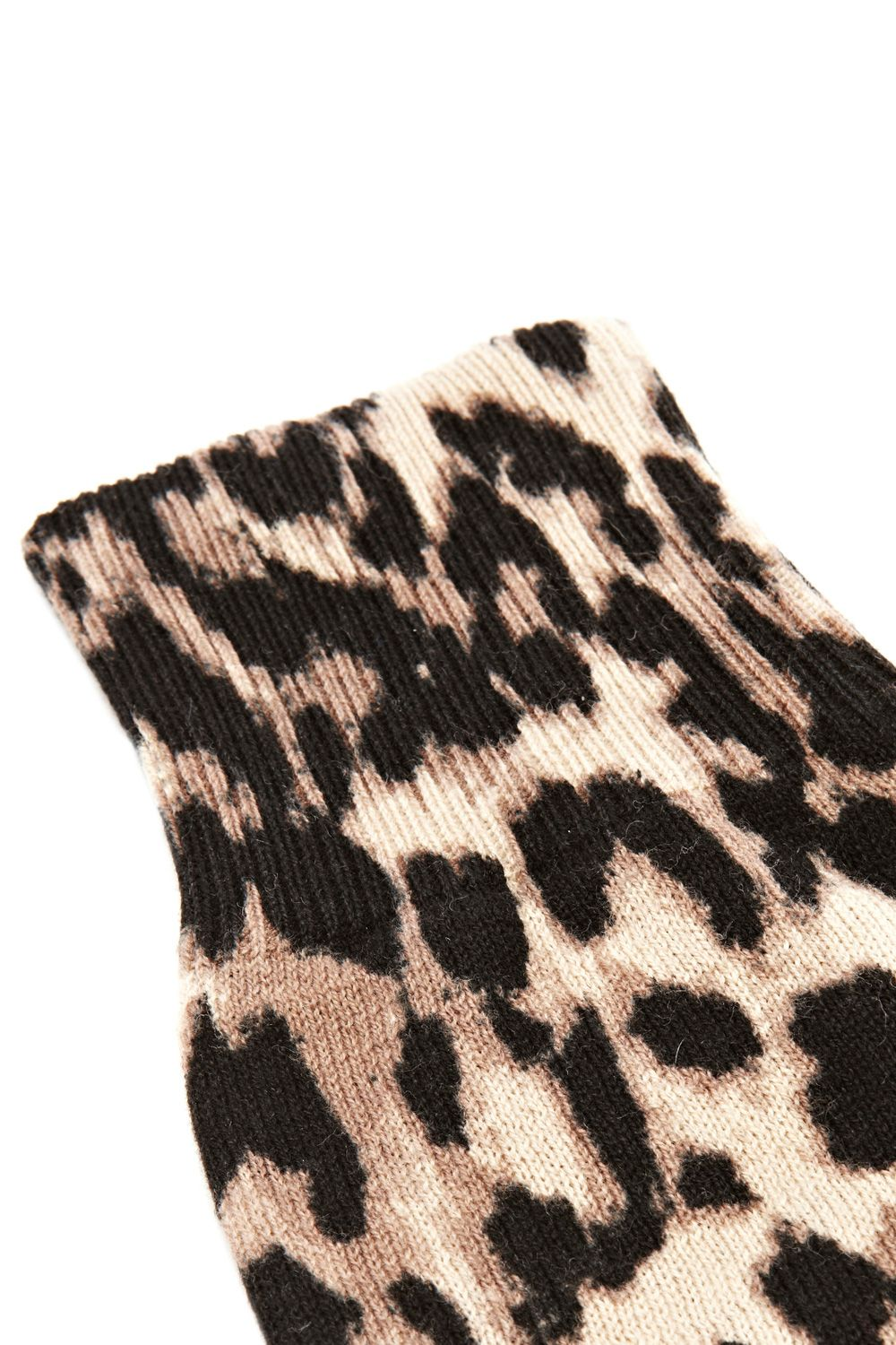 Knitted animal print glove