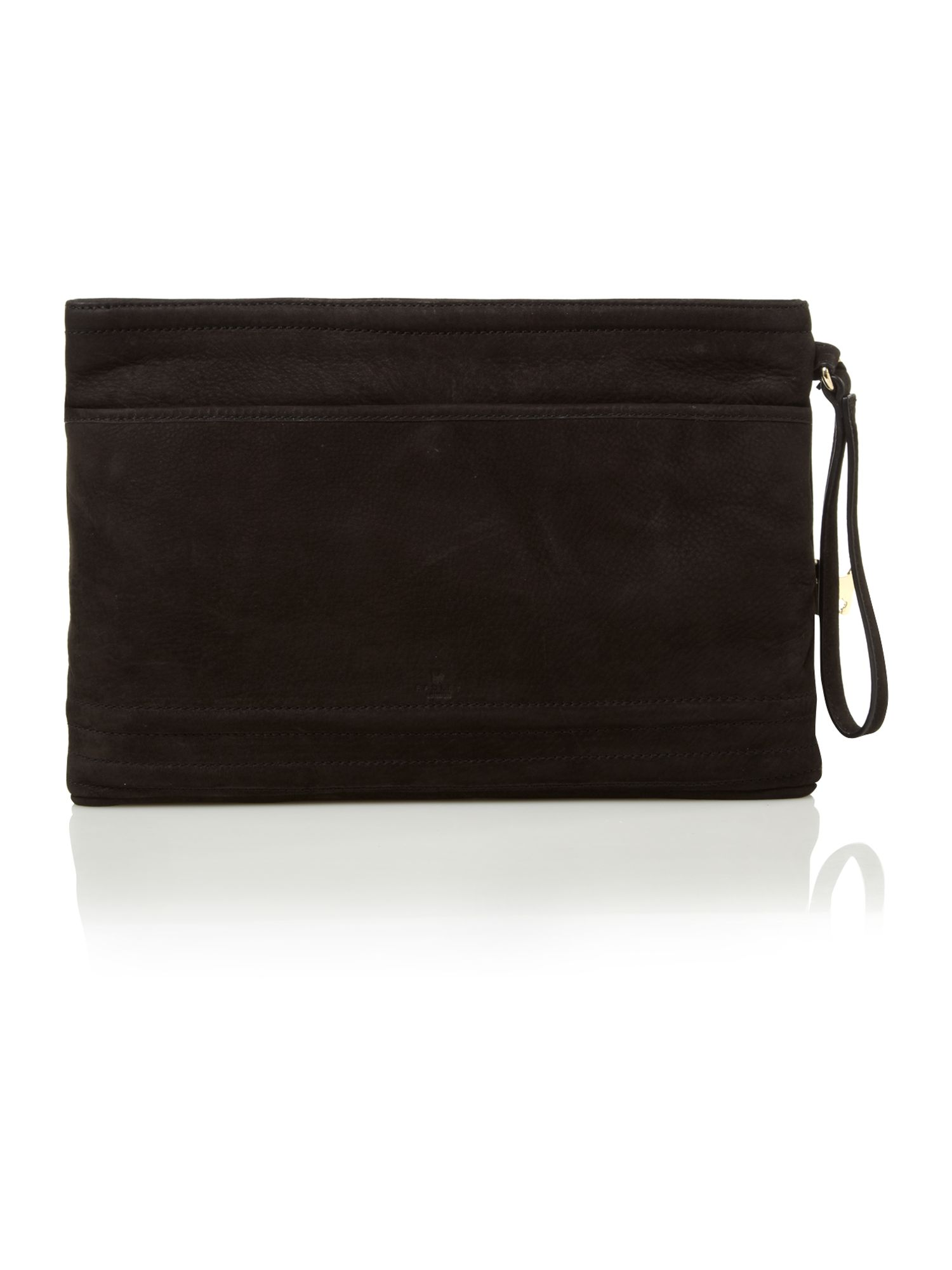 Goldington large zip clutch