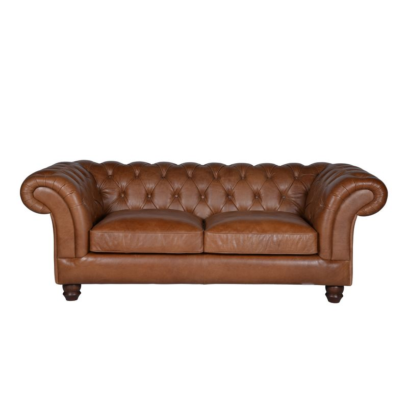 Chelmsford  leather sofa brown
