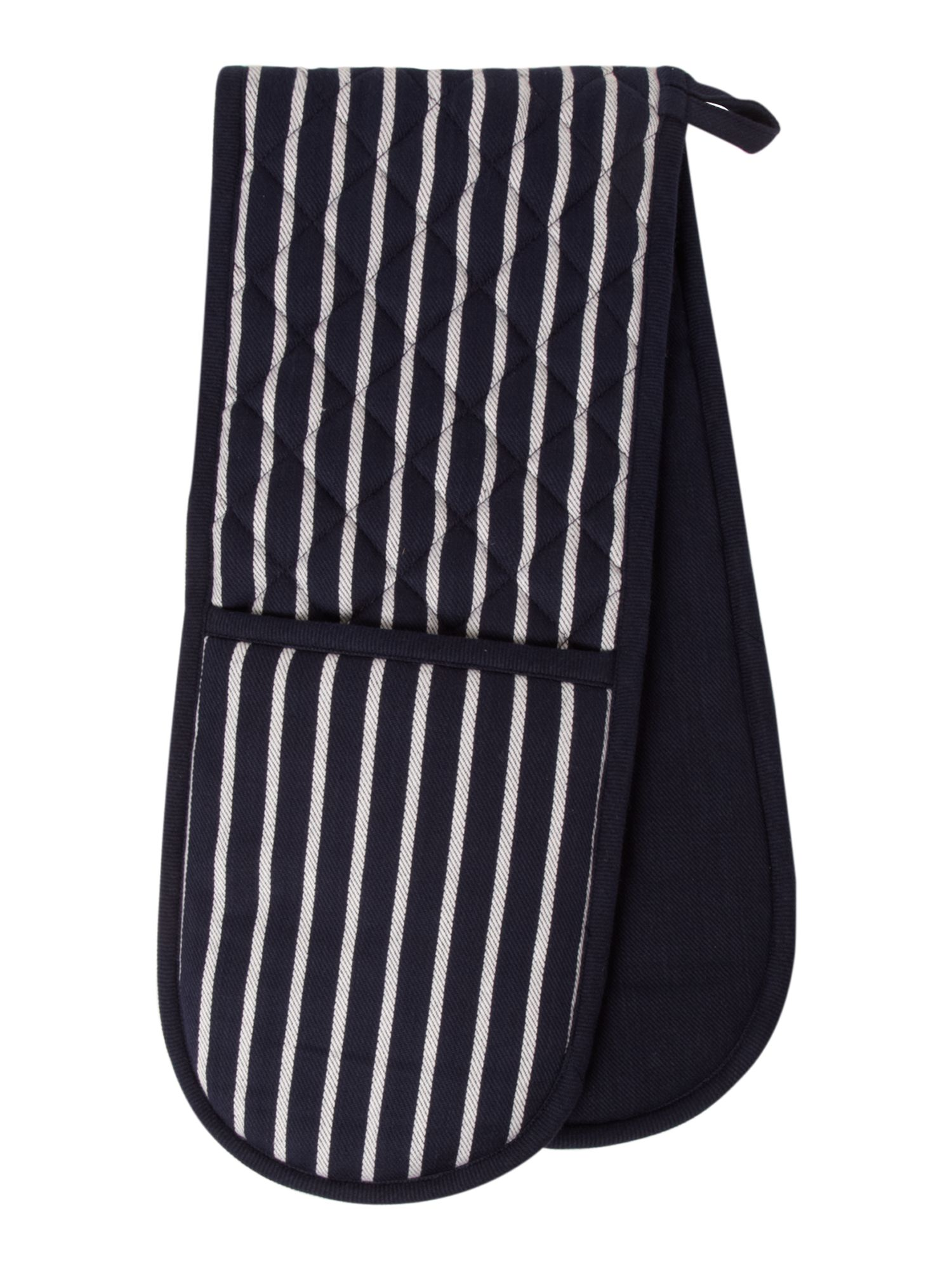 Butcher stripe double oven glove