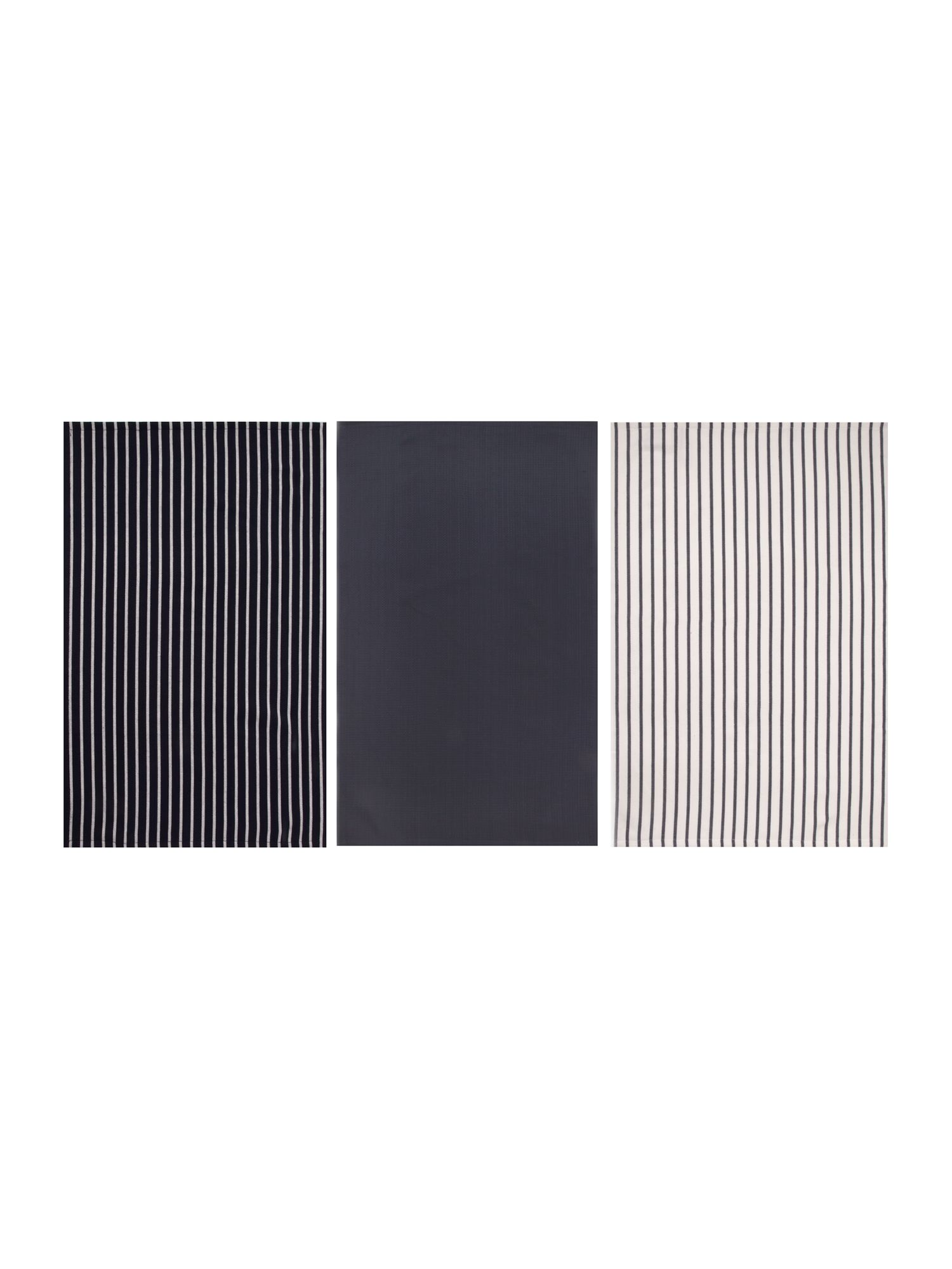 Butcher stripe set of 3 tea towels