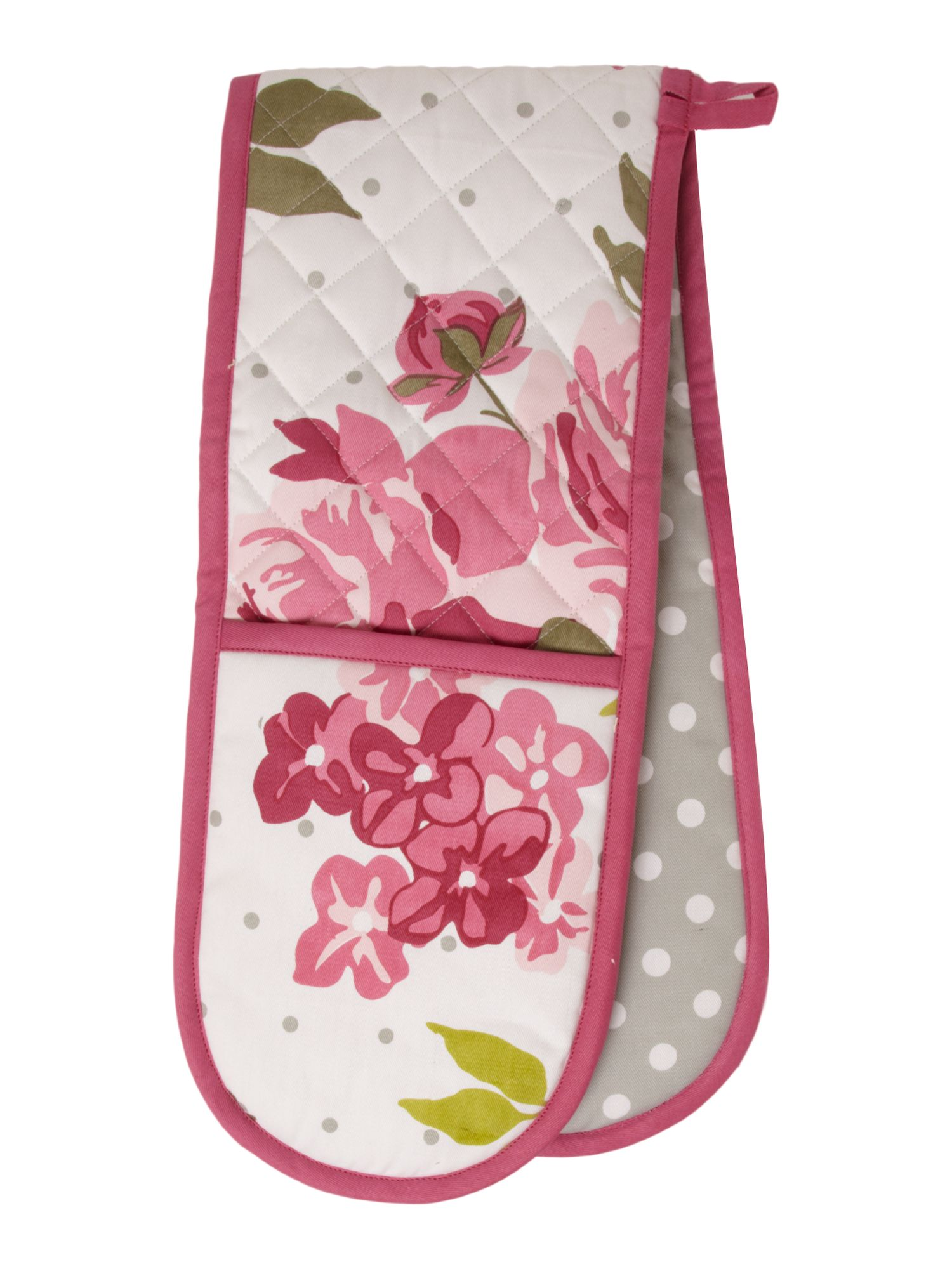 Pretty Floral Double Oven Glove