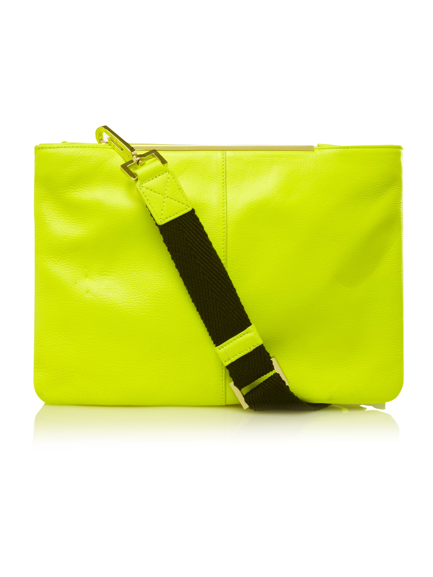 The beat double zip feature cross body bag