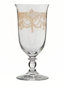Victoria gold water glass