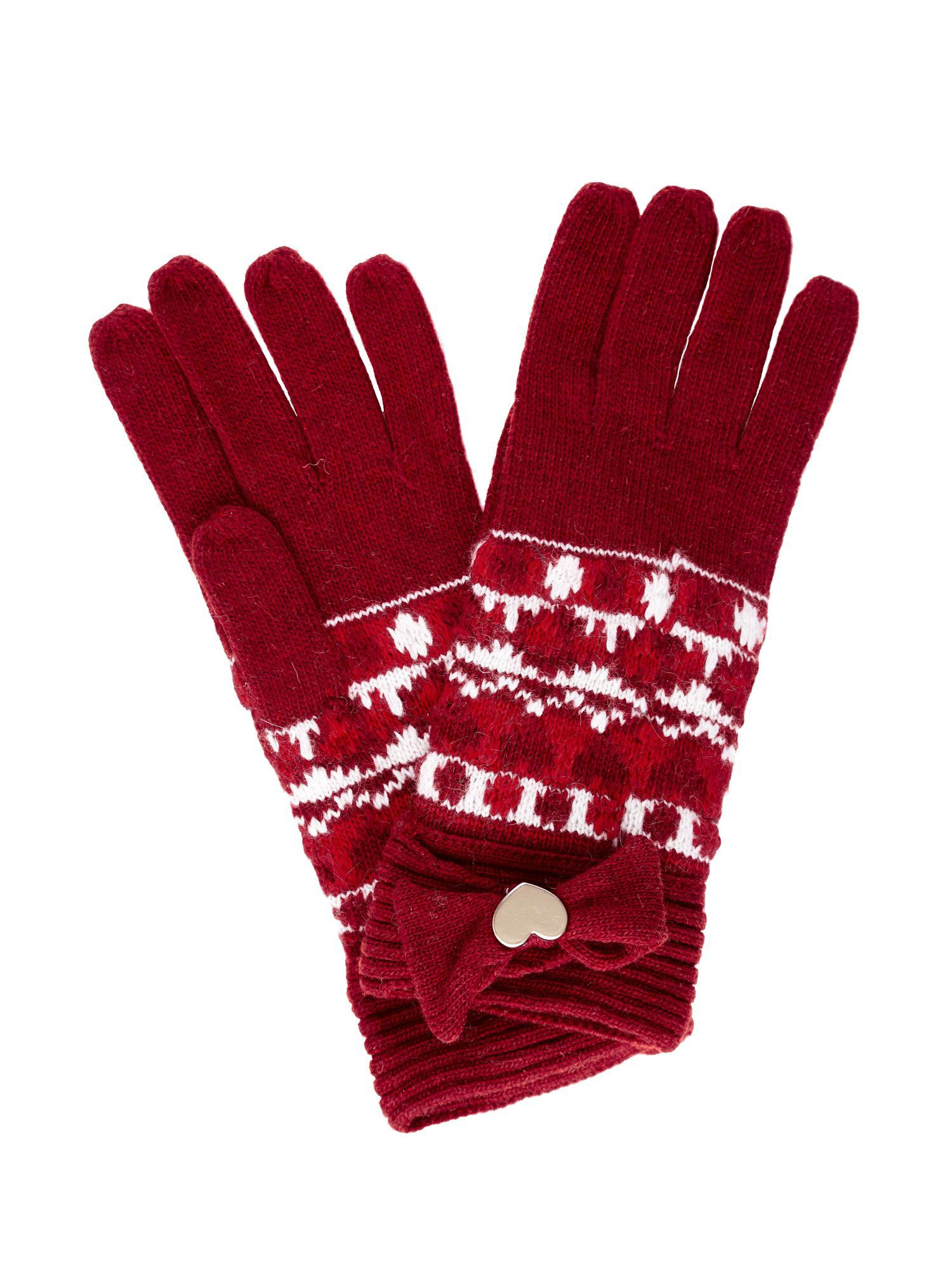 Fairisle knit gloves.