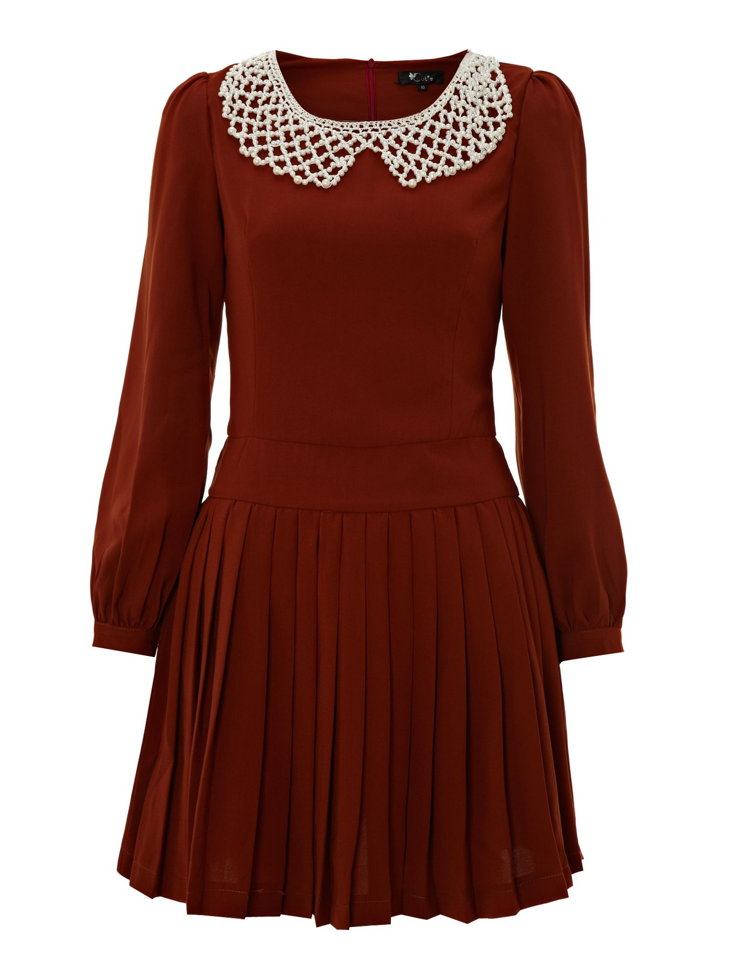 Pearl collar dress