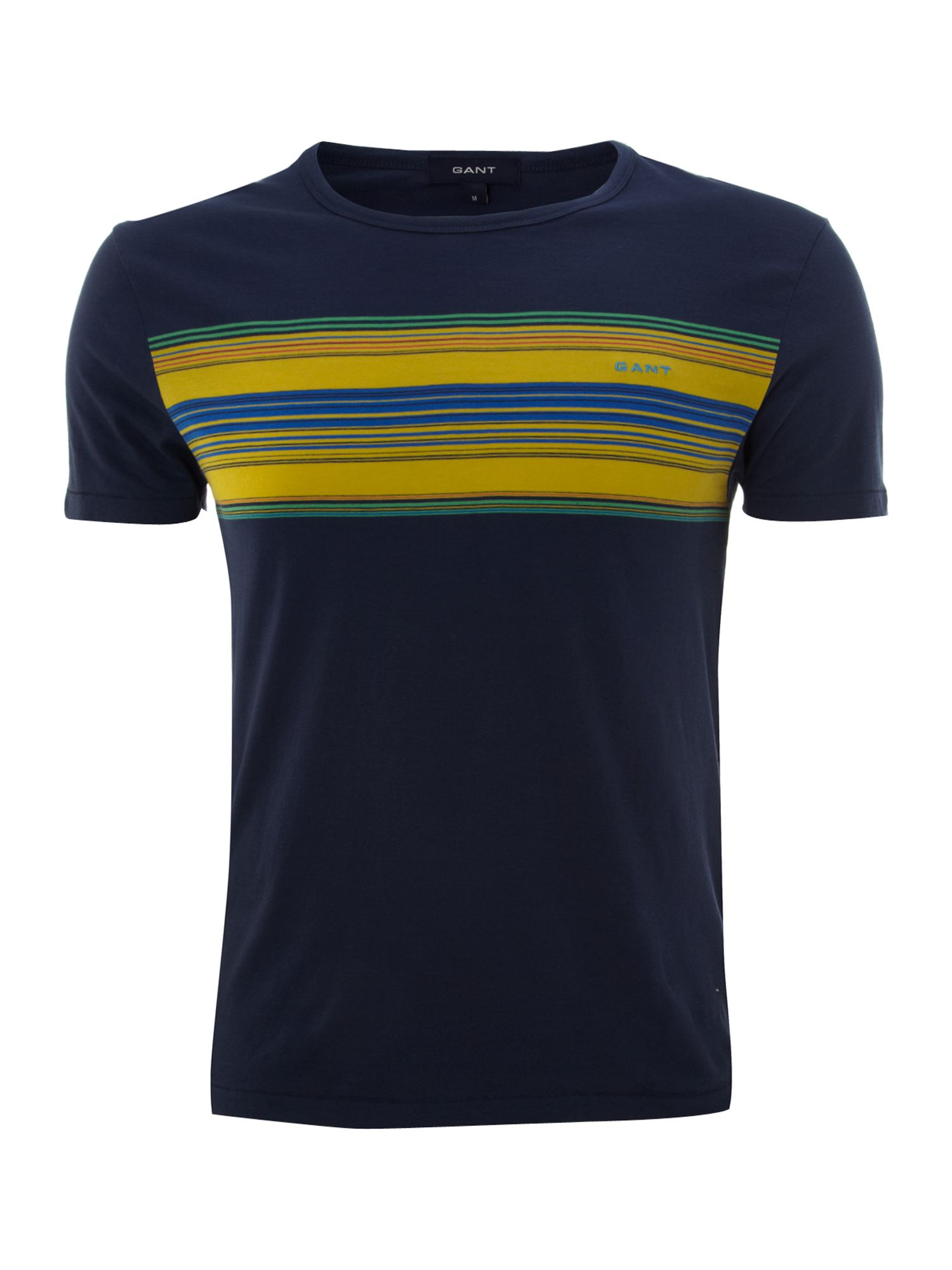 Short sleeve chest stripe crew t-shirt