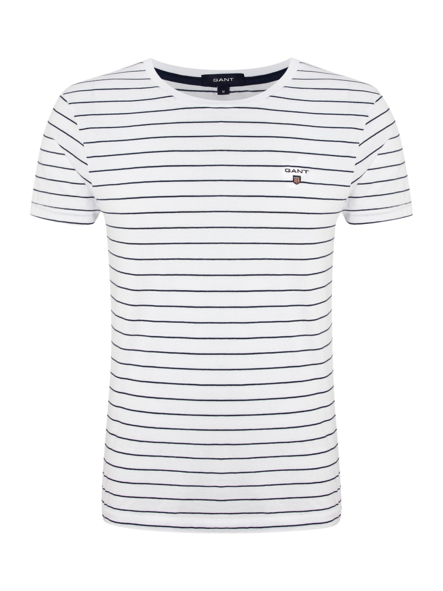Short sleeve breton stripe crew t-shirt