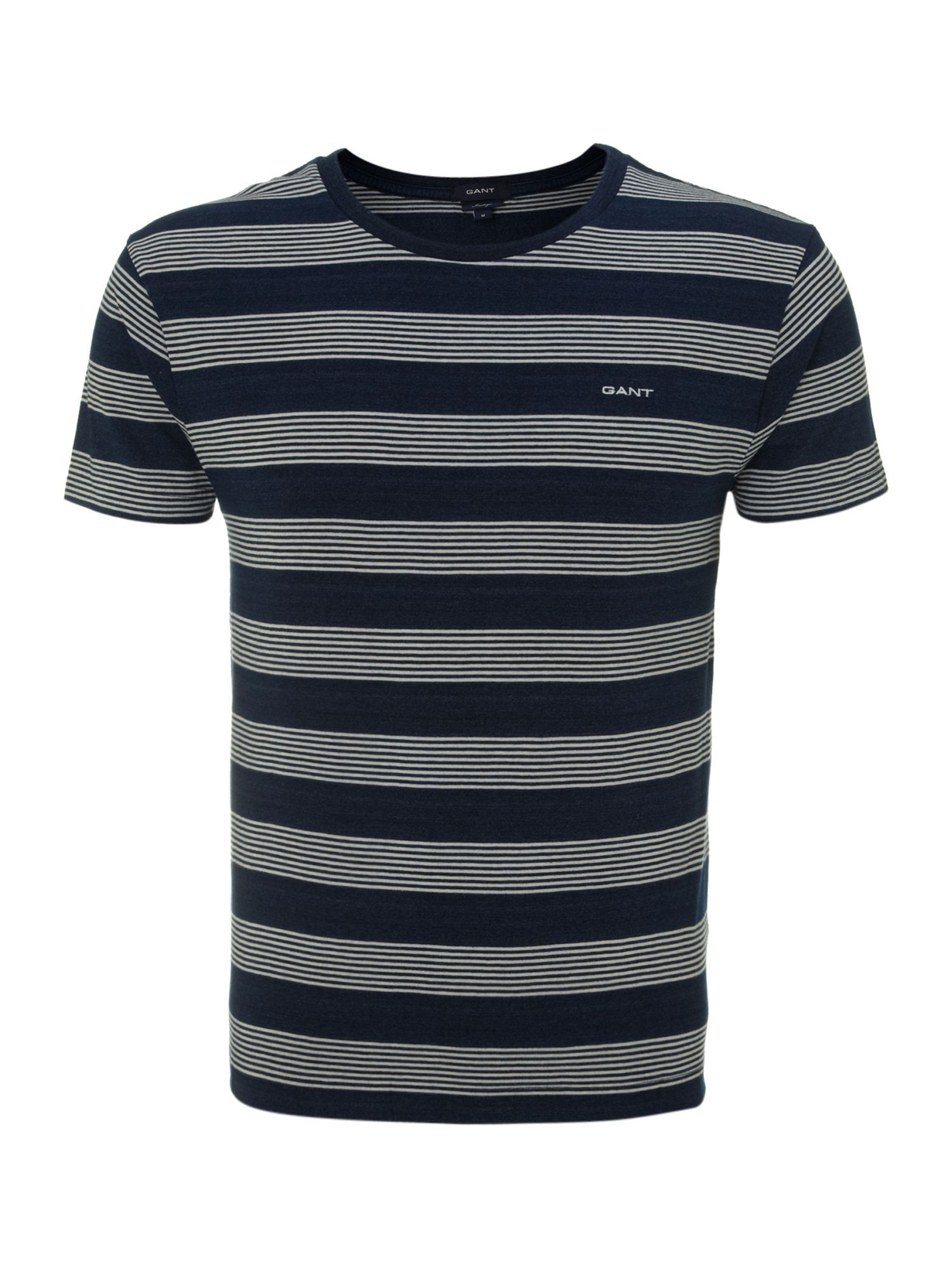 Short sleeve mini multistripe crew t-shirt
