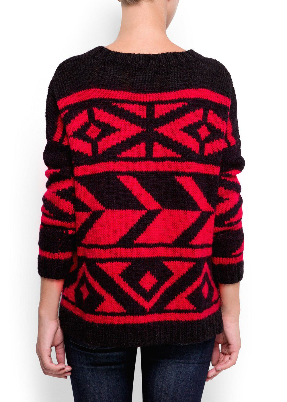 Oversized jumper borders